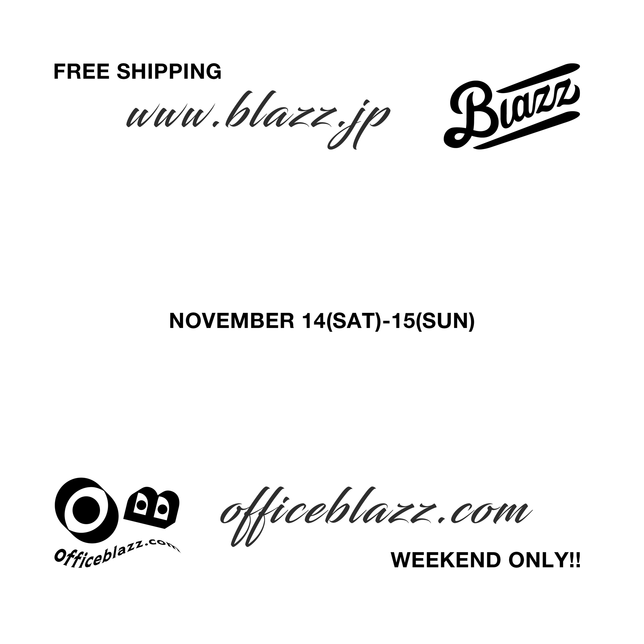 WEEKEND ONLY FREESHIPPING PROMOTION NOW!!