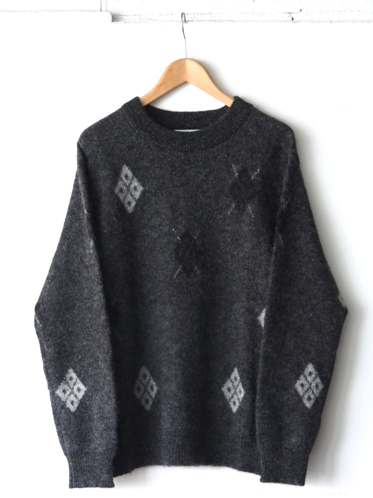 FUJITO Argyle Mohair Sweaterのご紹介です