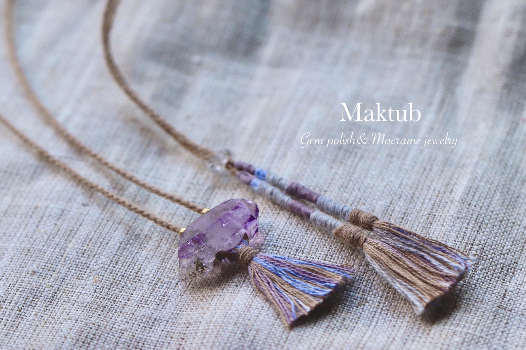 新作天然石Jewelryと日々のお便り。