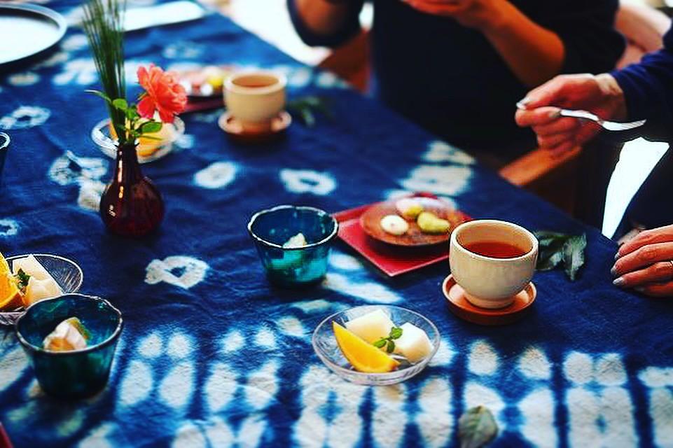 アルバム作り+お茶の時間