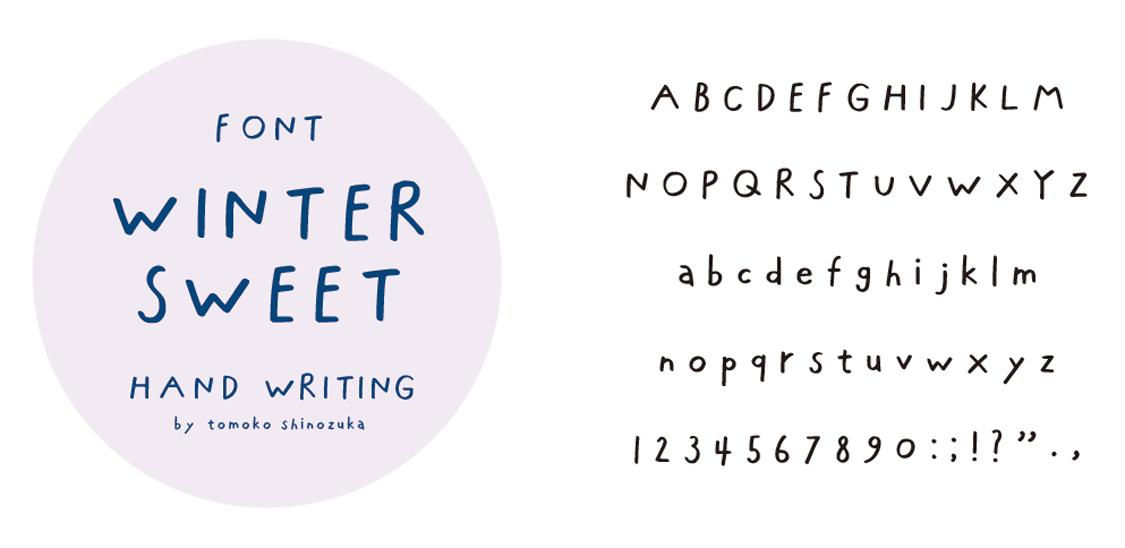 """font date """"WINTER SWEET"""""""