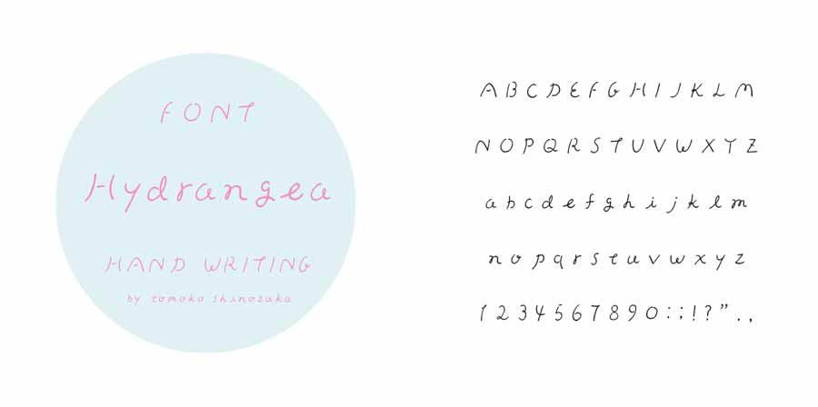 """font date """"Hydrangea"""""""