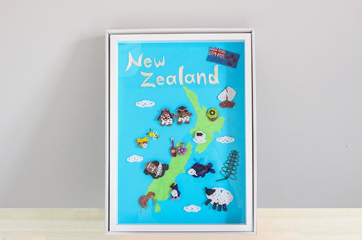 【店舗展示用】水引アートフレーム『水引ニュージーランドマップ』を制作しました!