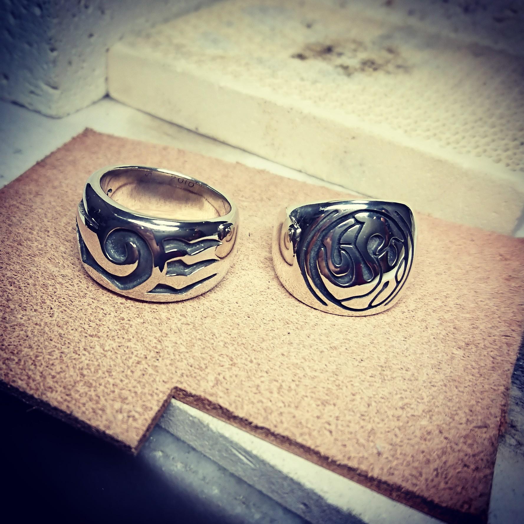 受注制作~tribal&logo ring~