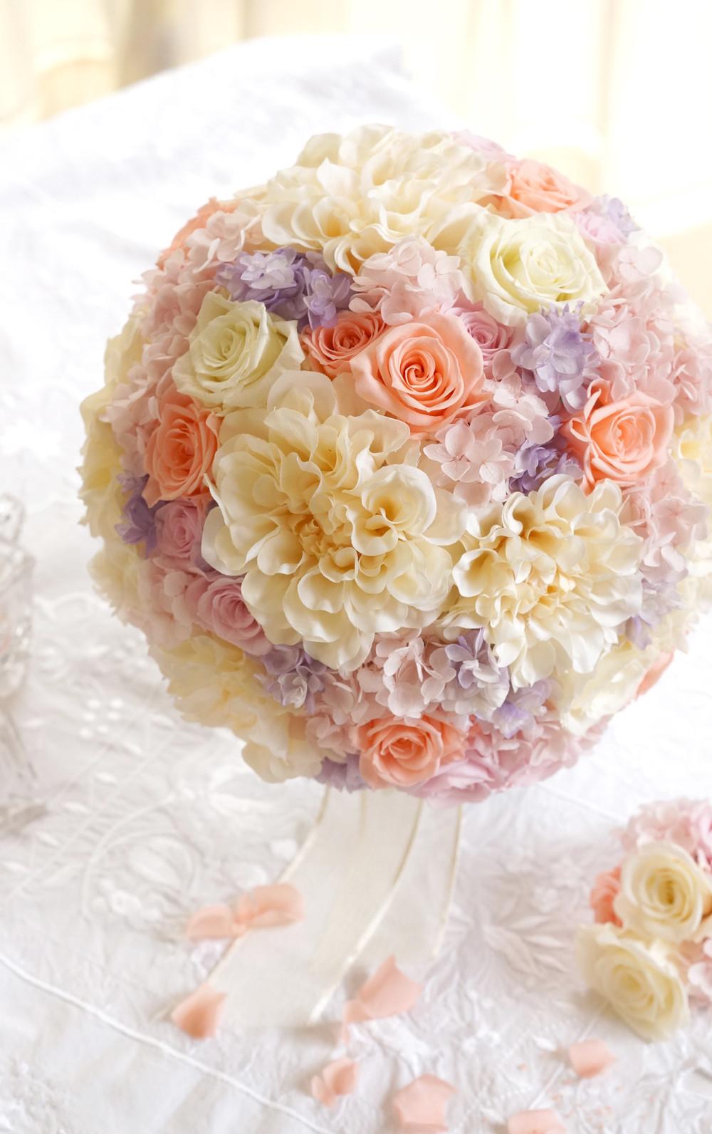 「一目惚れした花束、とても素敵に作っていただき、ありがとうございました。」ウェディングブーケ通販!