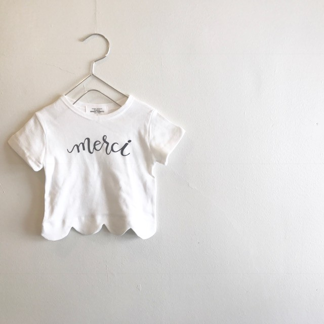 merciスカラップTシャツ☆白