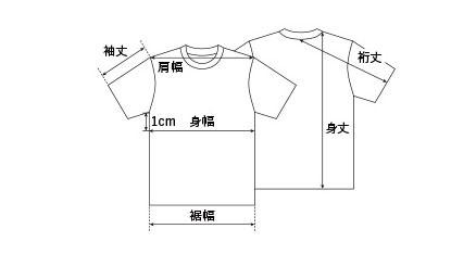 Tシャツの 品質・サイズ・取扱い