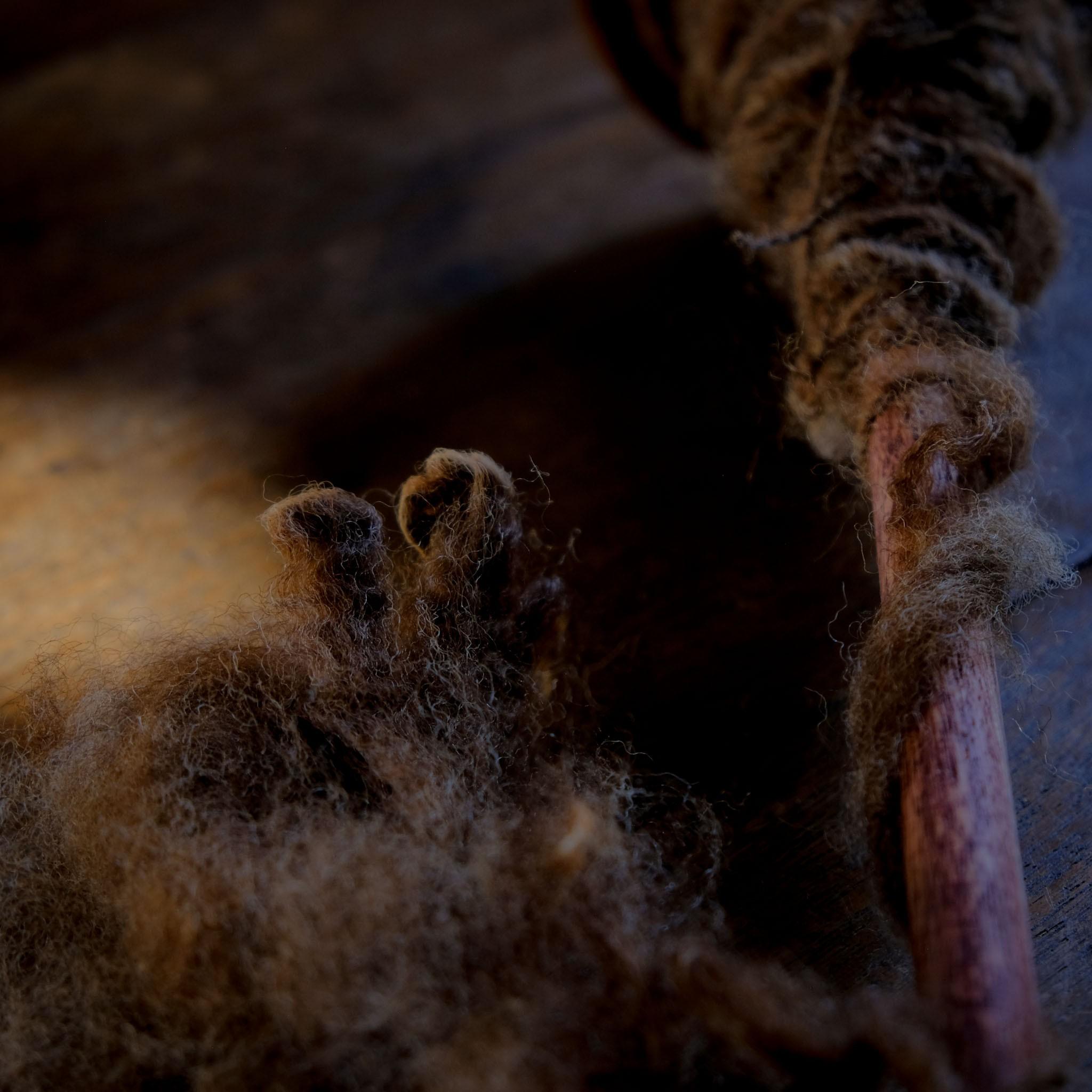 羊毛の素を想う 自然の息吹をいだく野性の紡ぎ糸