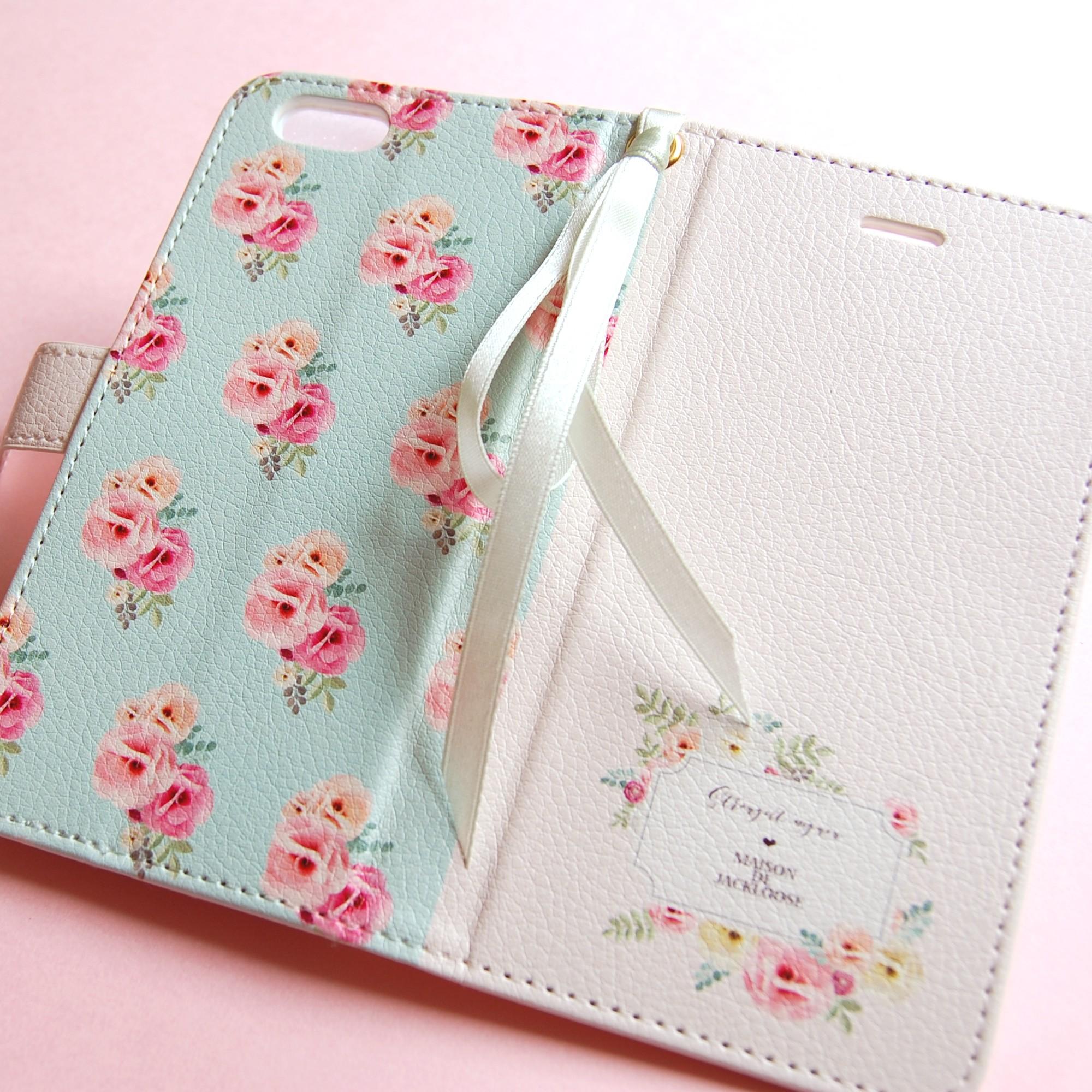 個性的なケースもいいけれど、上品でフェミニンなオリジナルデザインのiPhone手帳ケース。♥♡