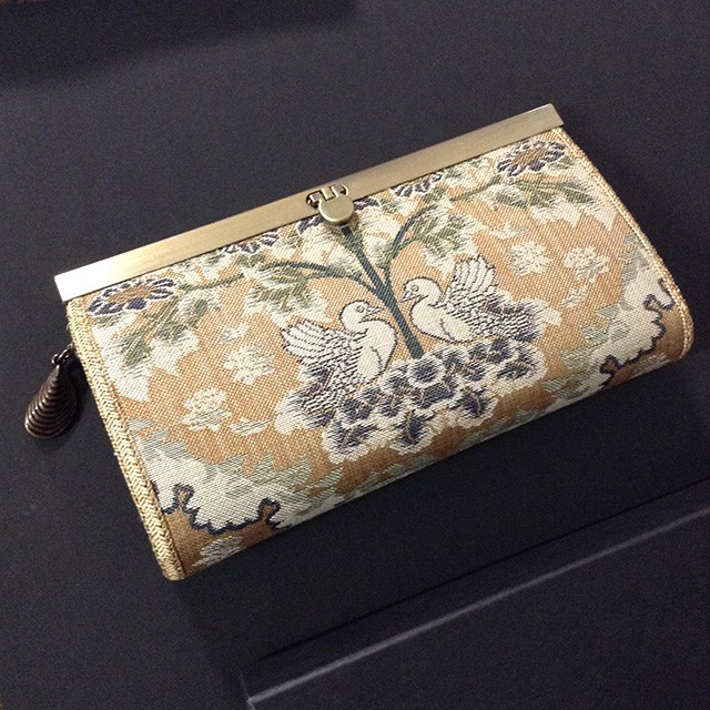 日本橋三越本店にて、西陣織長財布をお披露目いたします。
