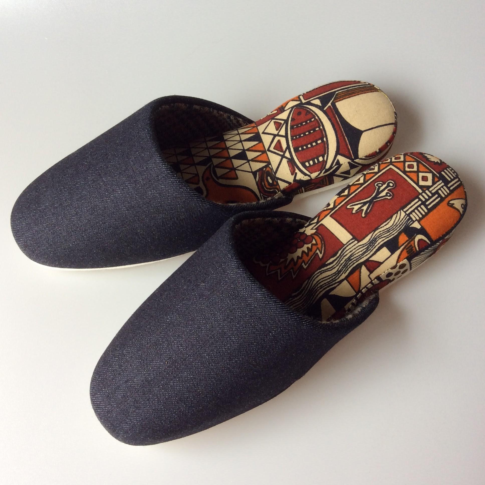 日本製の平和スリッパ 広島産の生デニムを贅沢に使用