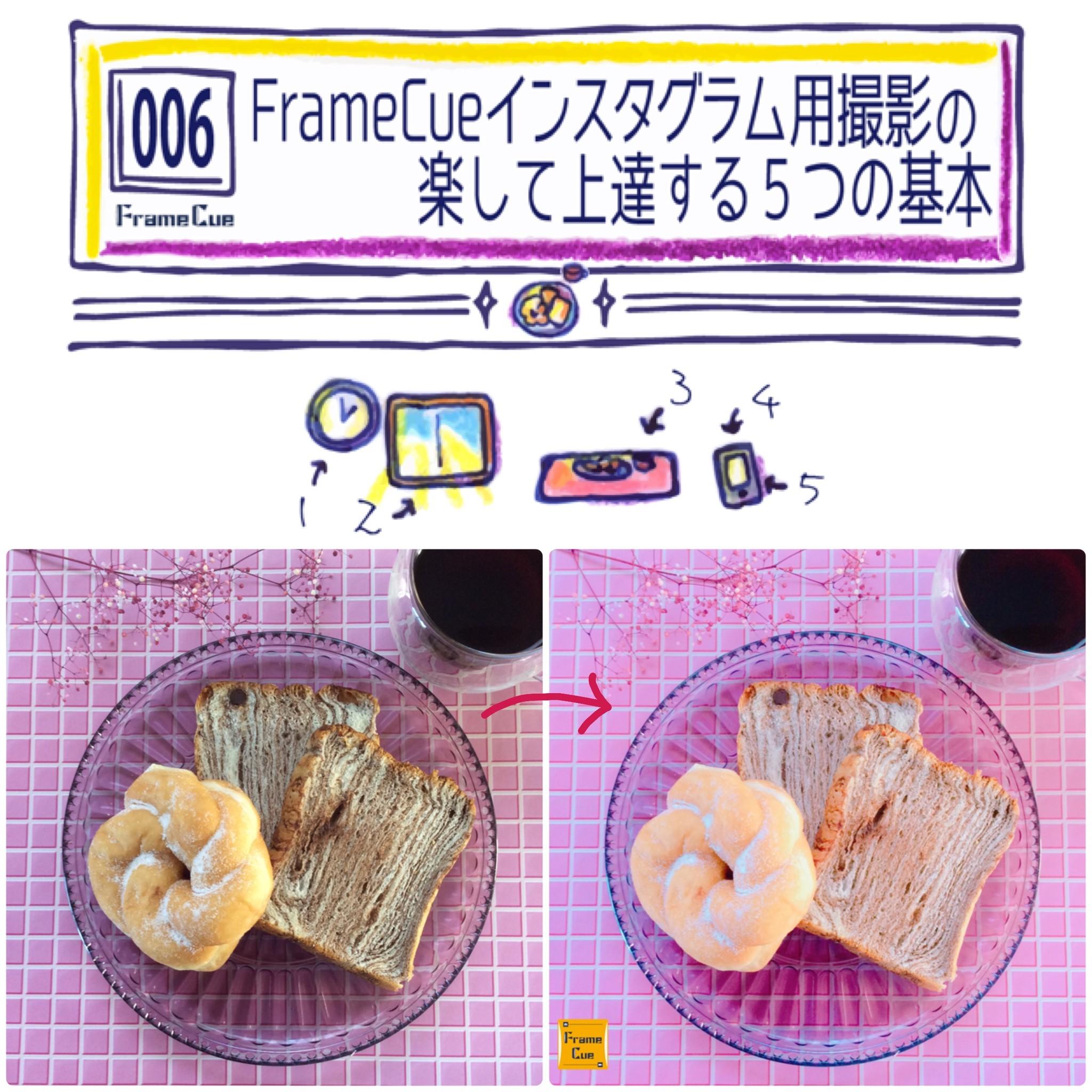FrameCueの撮影実演#006『FrameCueインスタグラム用撮影の楽して上達する5つの基本』