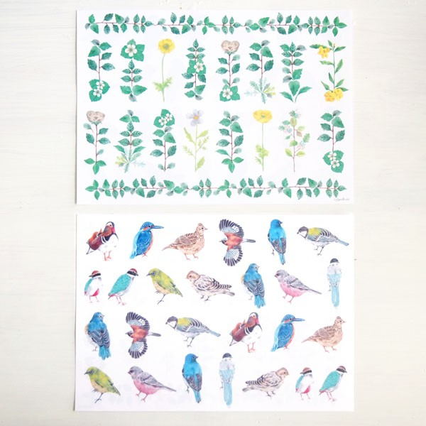 鳥と植物で春を贈る。