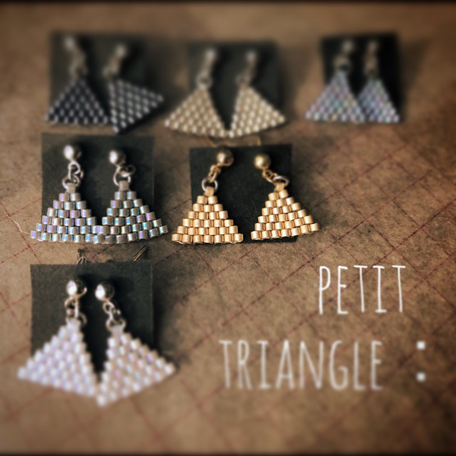 petit triangle:pierce & earring
