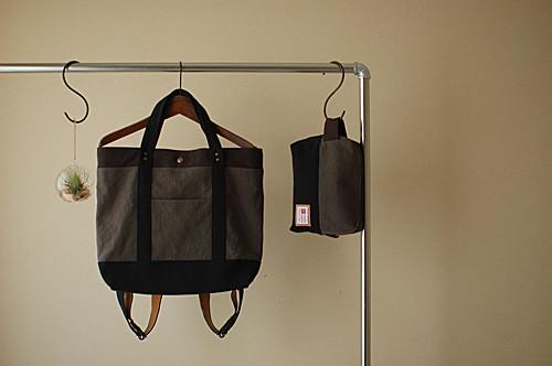 出し入れし易い。小旅行やママバッグにも最適。大容量2wayトート型リュック。