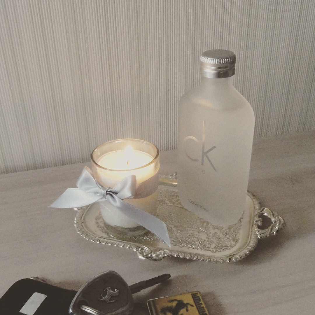CK oneの香り。pafum soy candle