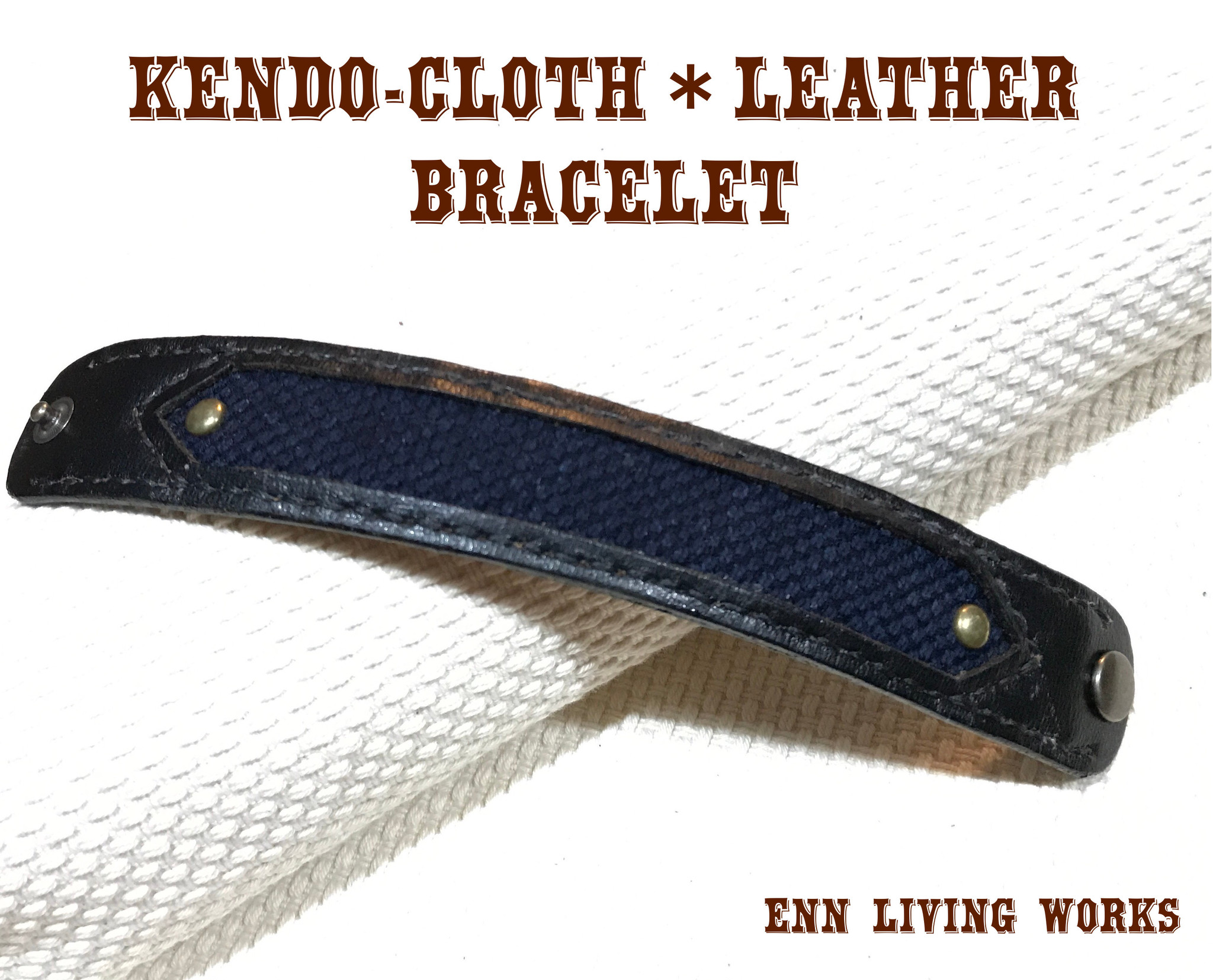 KENDO-CLOTH*LEATHER   BRACELET