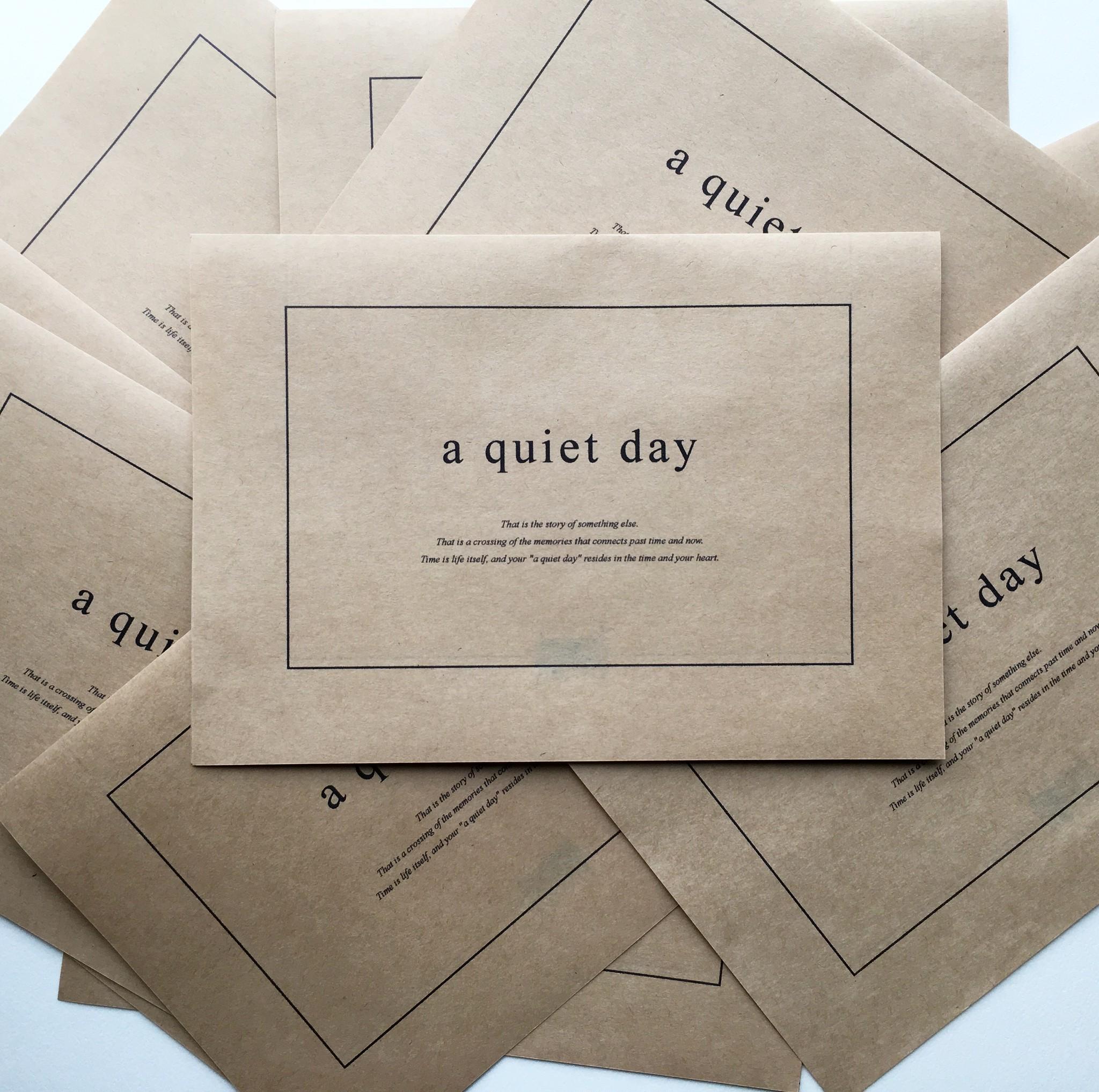 a quiet dayの手紙のデザインのメッセージ
