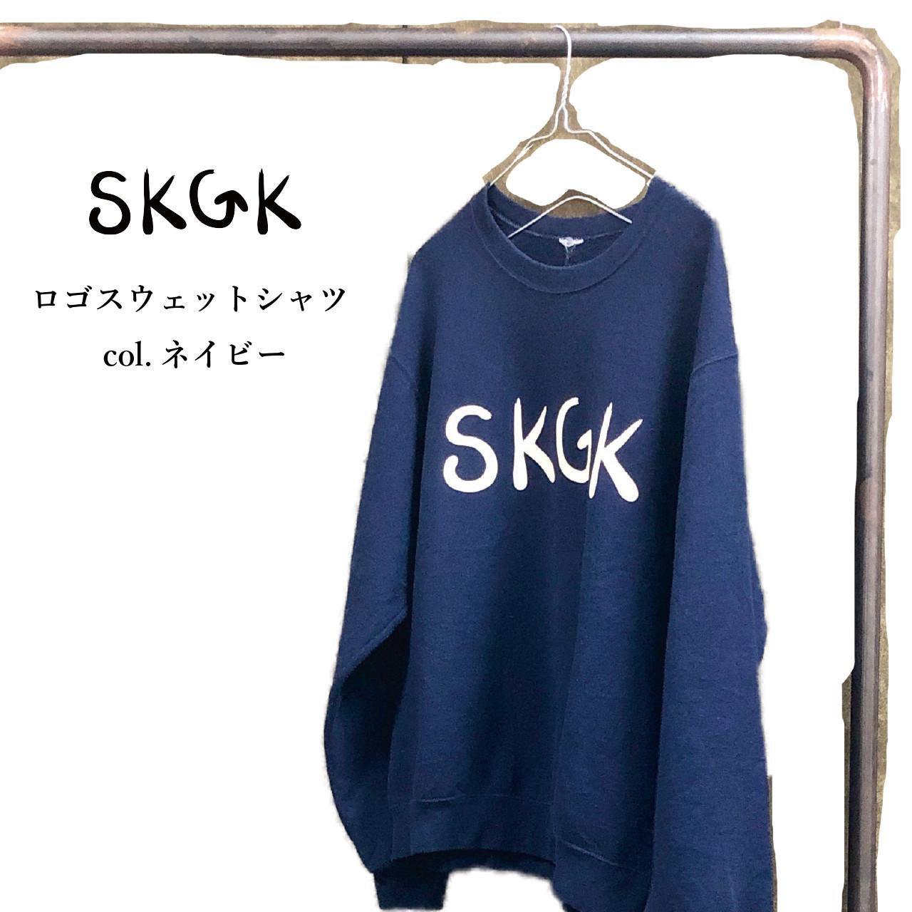 SKGK ロゴスウェットシャツ ネイビー