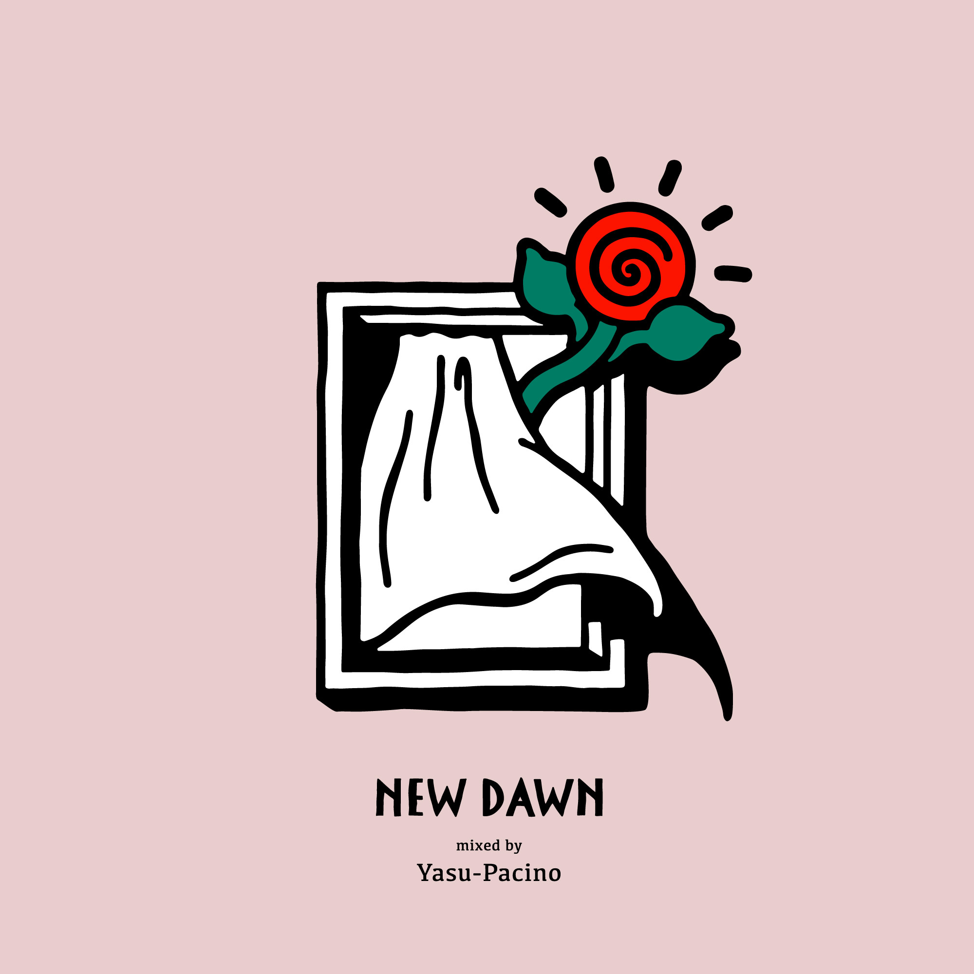 "Yasu-Pacino's new MIX CD""NEW DAWN"""