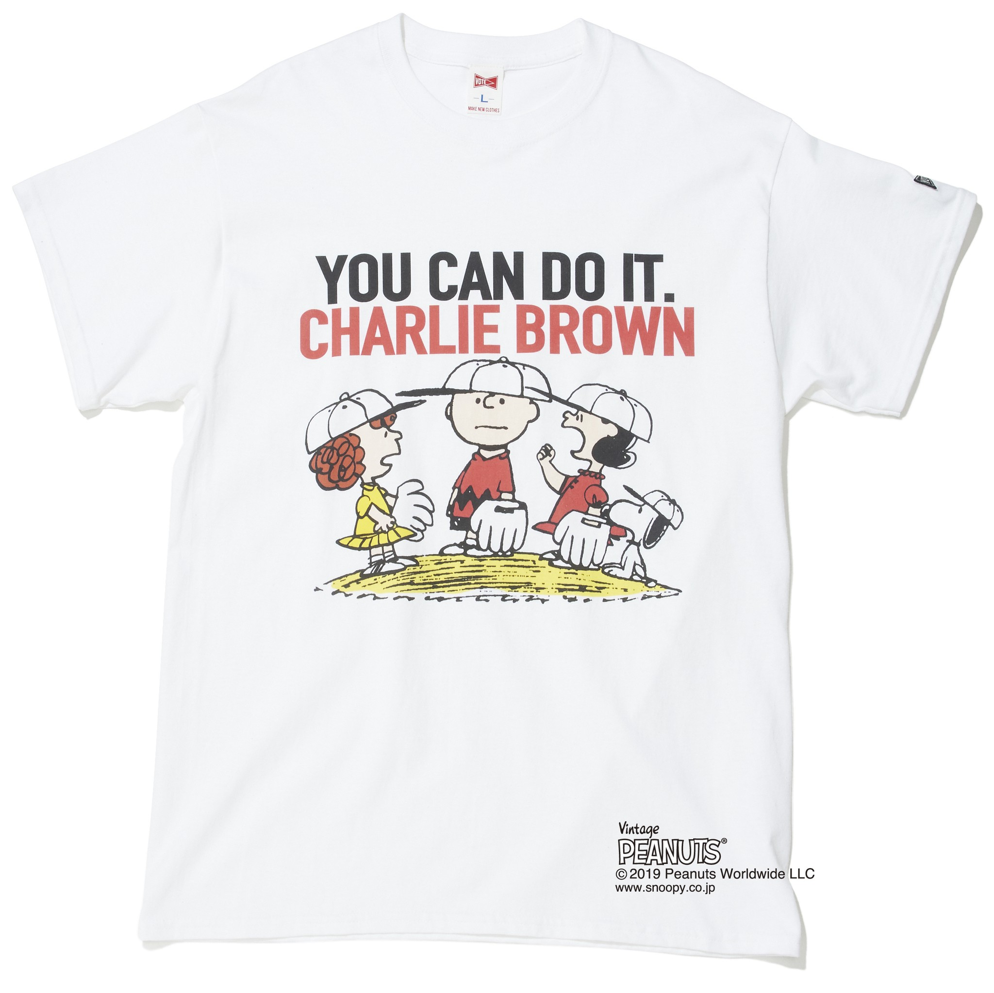 "PEANUTS ""YOU CAN DO IT"" S/S TEE"