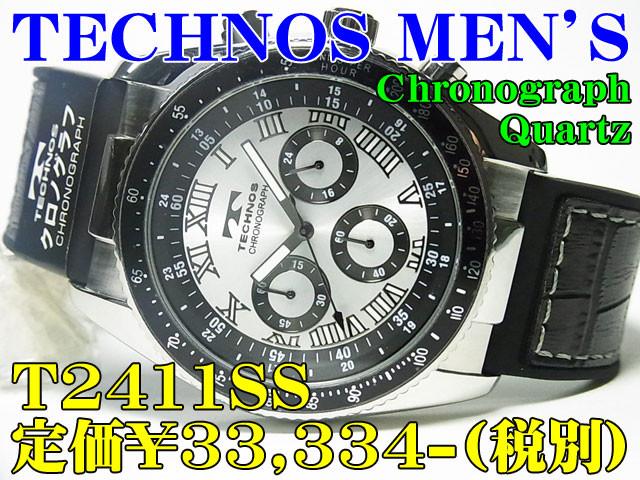 TECHNOS テクノス MEN'S Chronograph Quartz T2411SS