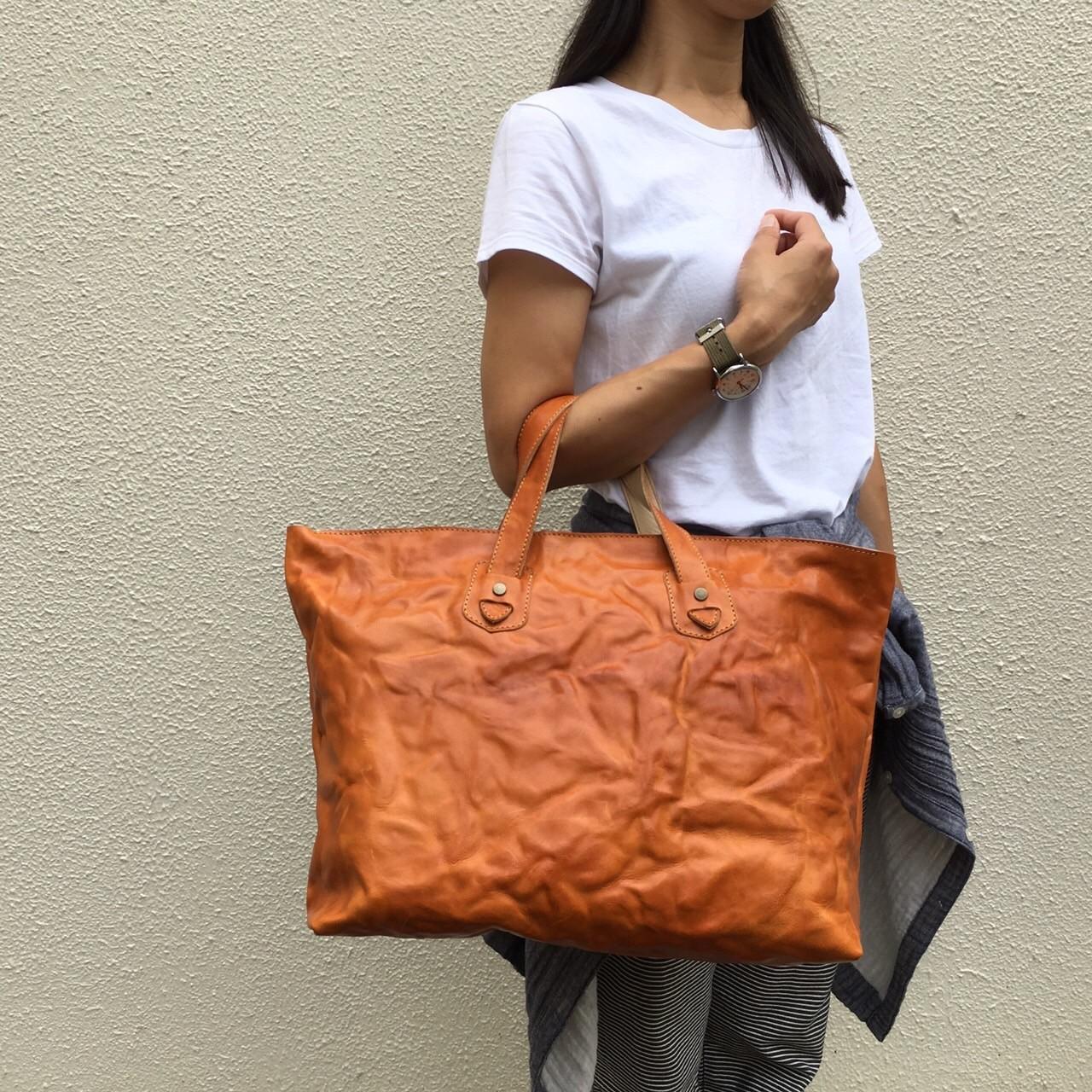 店舗限定販売!! Italy Leather Tote Bag