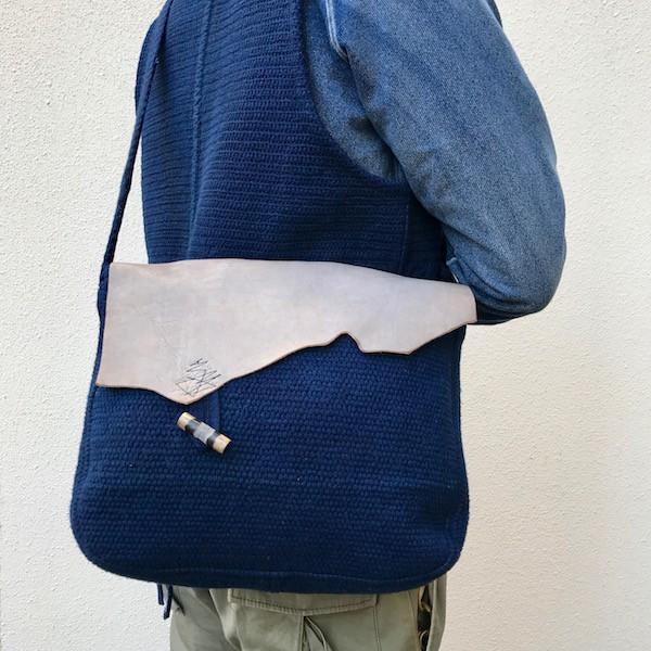 藍染刺し子 Vintage Bag