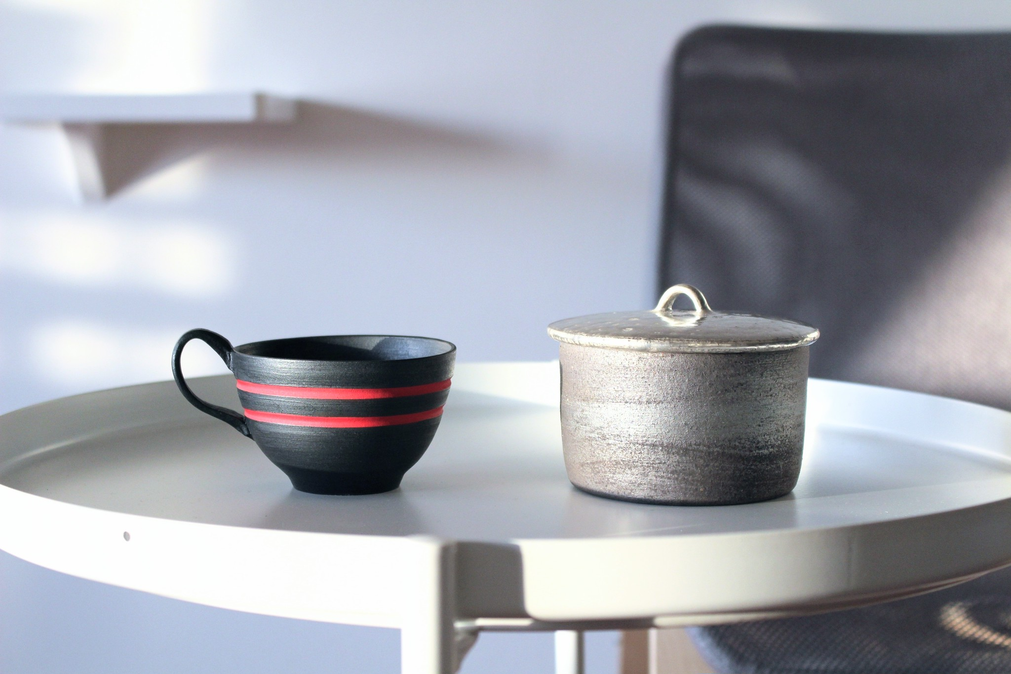 陶芸家【酒井智也】【谷井直人】 コーヒーカップ&蓋物   こだわりのコーヒーブレイクに