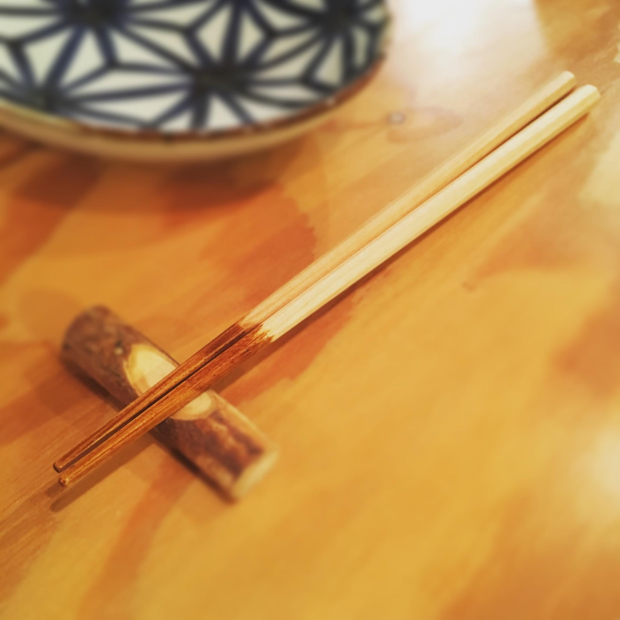 桜の木のお箸。