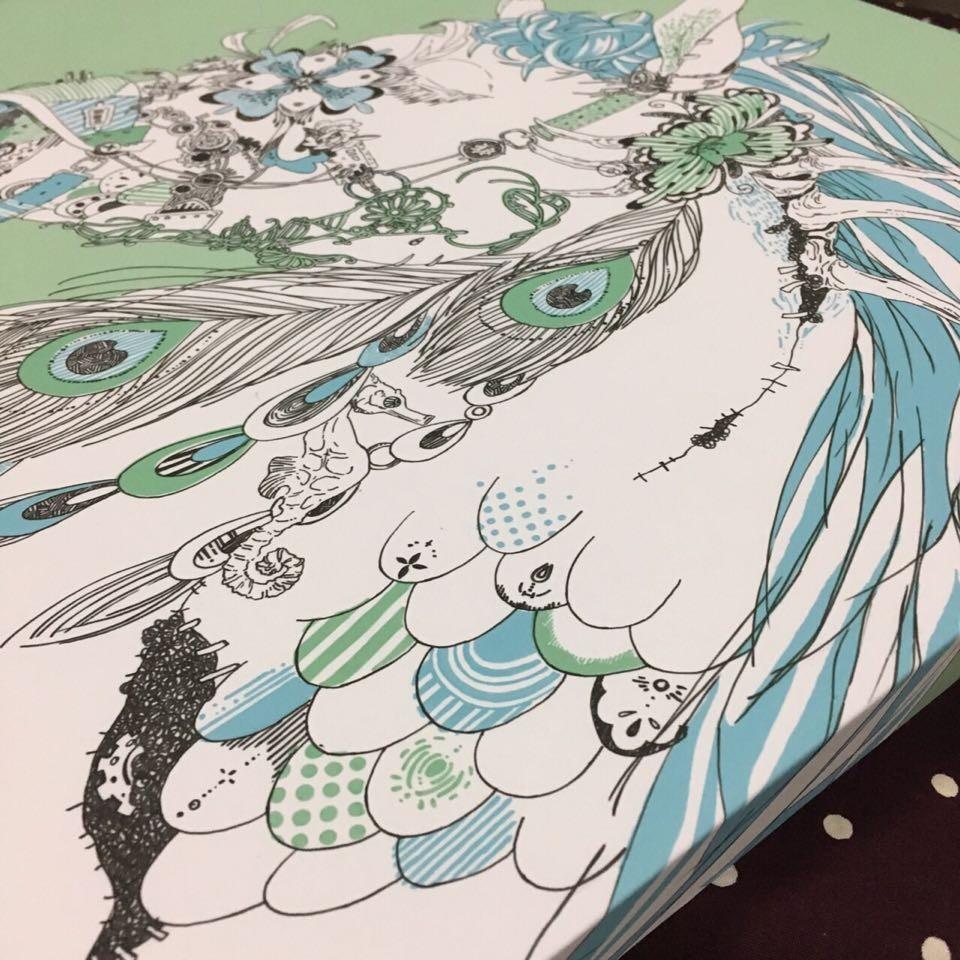 アートデリ大きいサイズ ●花とウマ●ご紹介♪*umi.doodle*