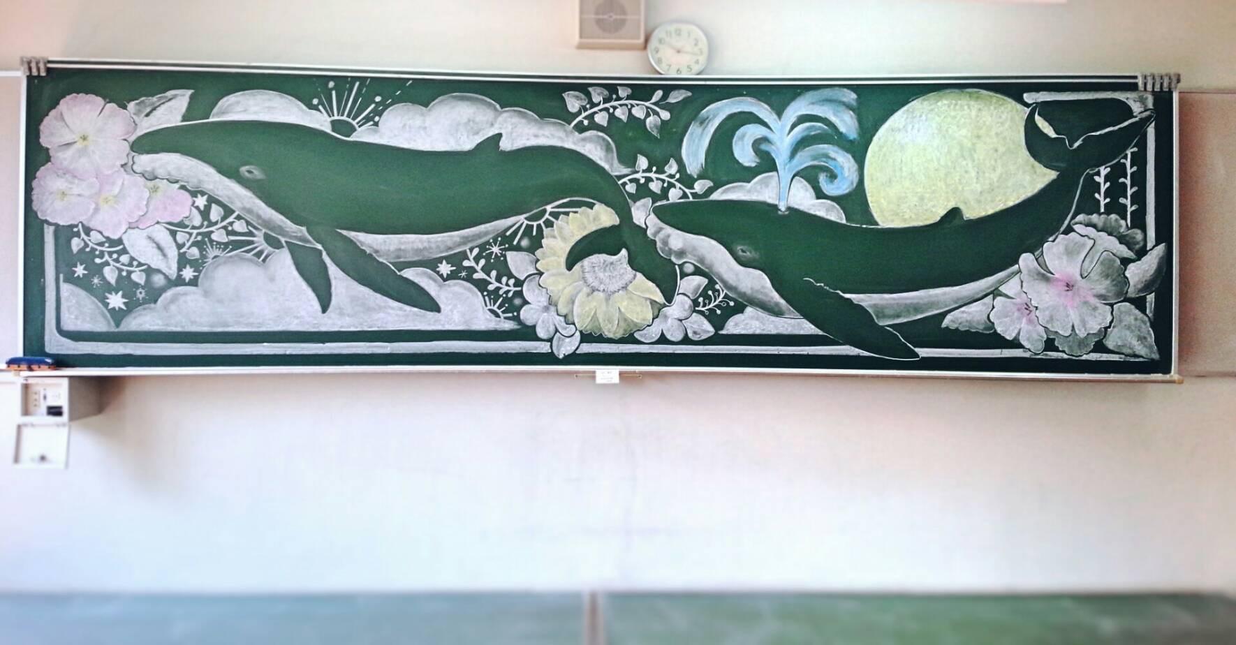OB展 黒板アートと次回のイベント予定