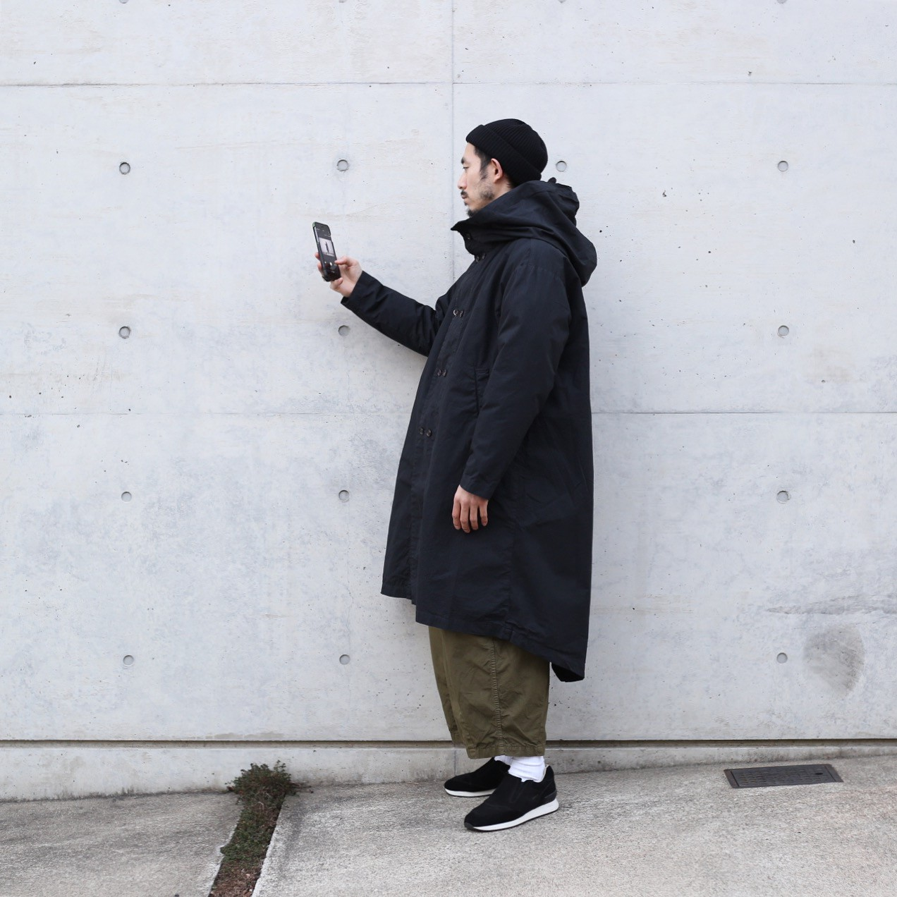 HARVESTY / OVER PARKA COAT