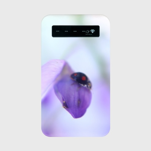 藤の花とテントウムシのモバイルバッテリー