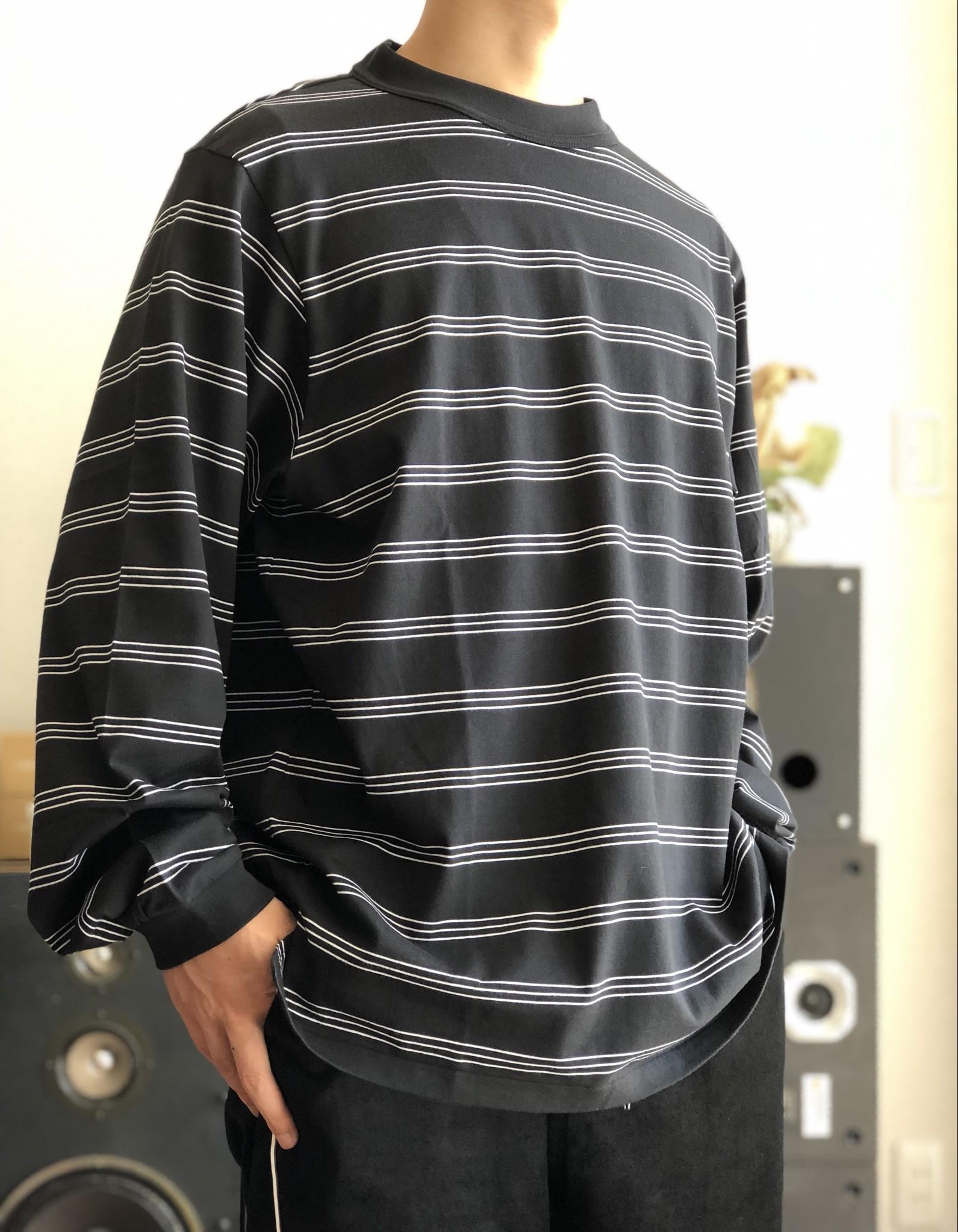 【JOHN MASON SMITH】BORDER LONG SLEEVE T-SHIRT