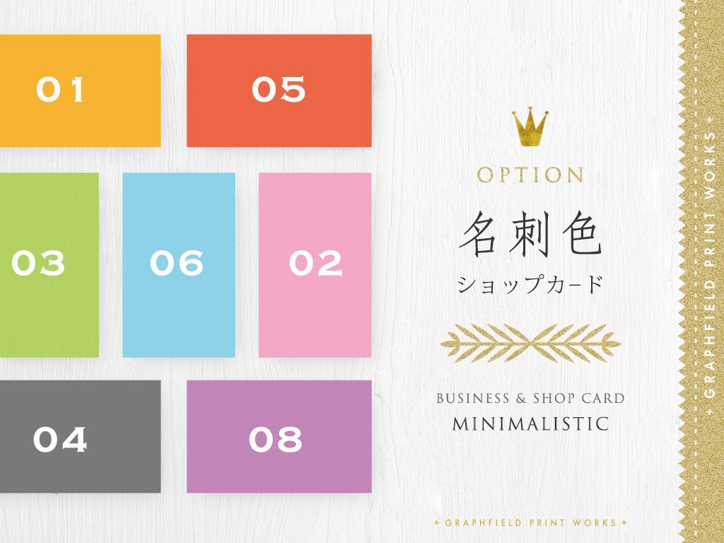 【印刷】名刺・ショップカ-ド オプション:色