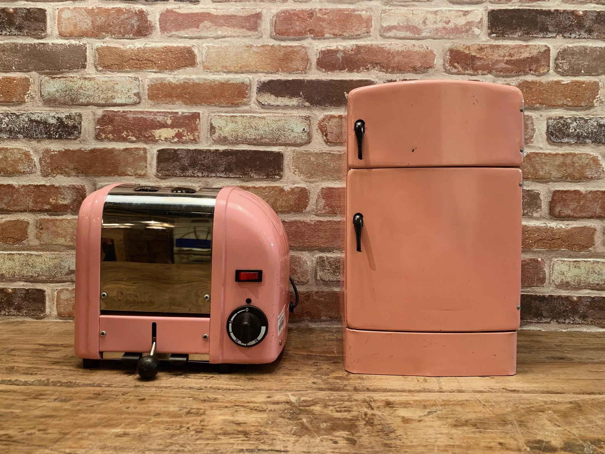 商品紹介!!ピンクのヴィンテージトースター&冷蔵庫!