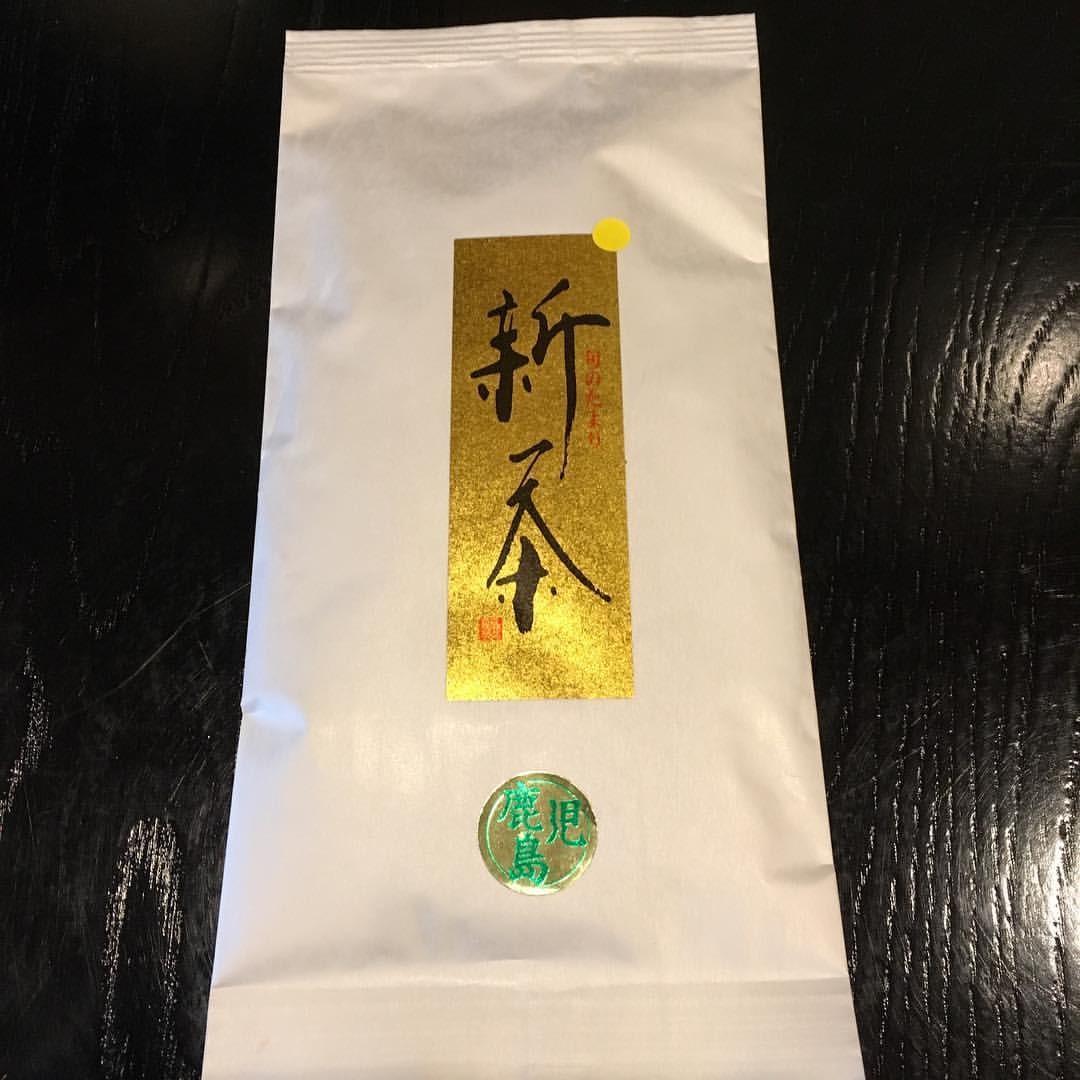 鹿児島から走り新茶が届きました。