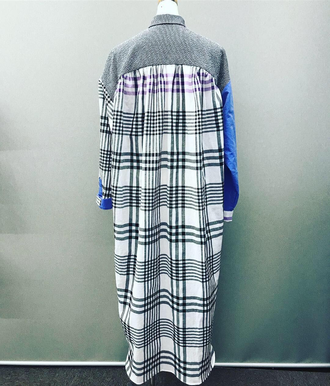 新作⭐️遠州織物シャツワンピース
