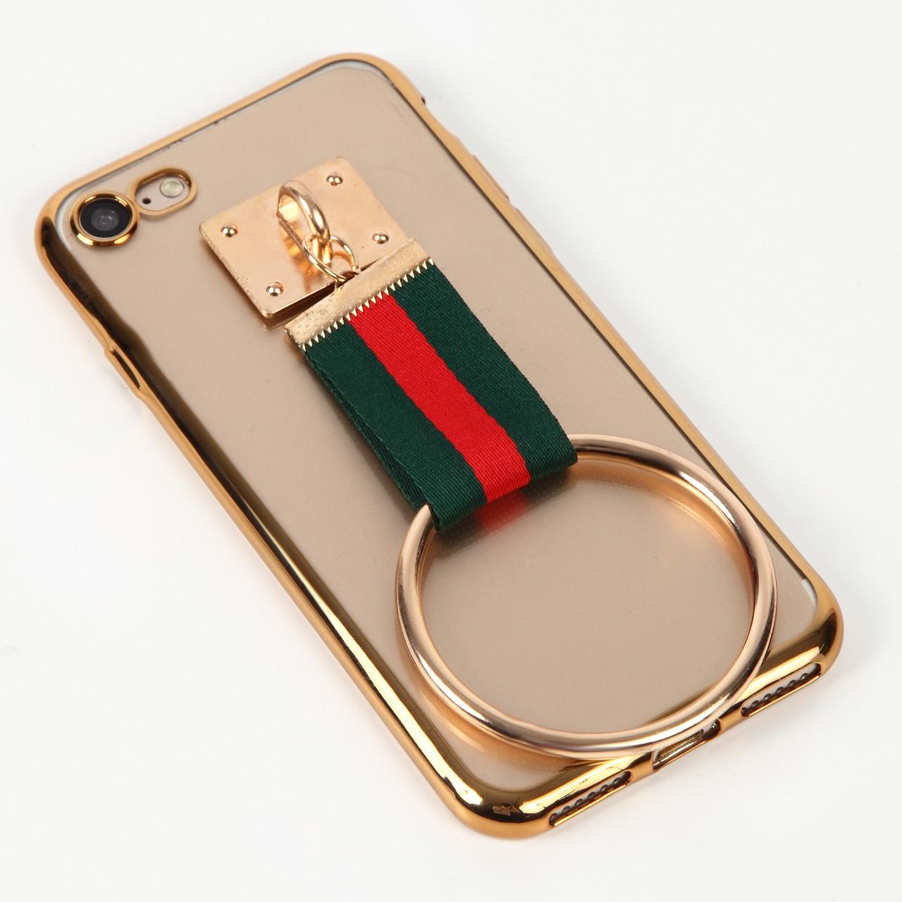 シンプルだけど他にはないリボンとリングがアクセントのiPhoneケース