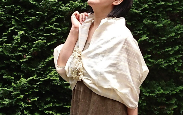 夏の展示会~水洗い出来る手織りシルクの手作り衣~