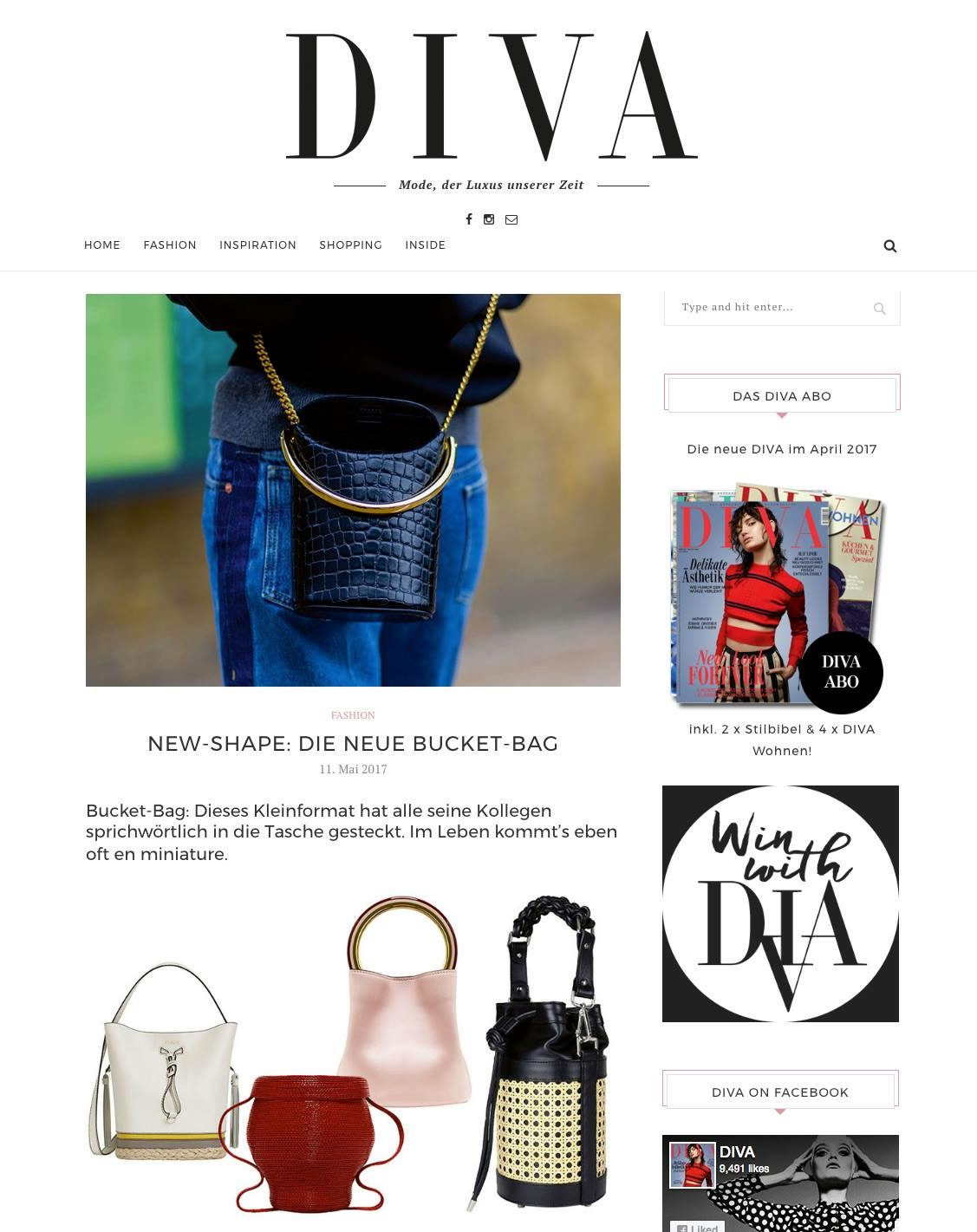 DIVA Magazine recommends:#SAGAN VIENNA bucket bag