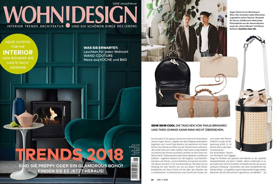 Wohndesign january 2018#SAGAN VIENNA