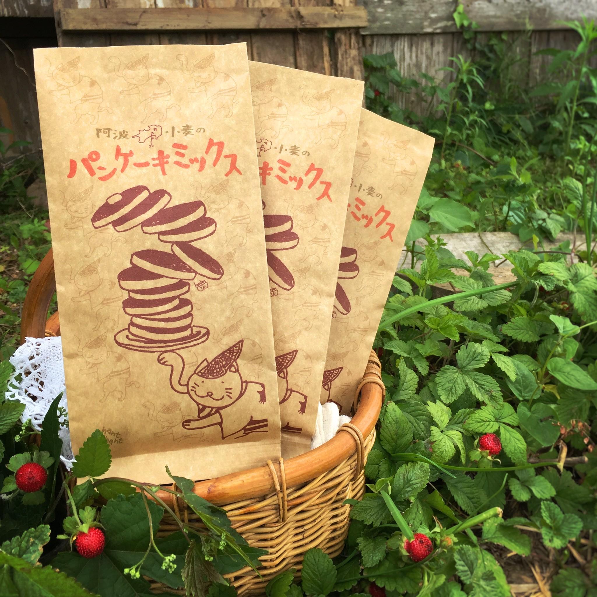 【送料100円】阿波小麦のパンケーキミックス【徳島県からお届けします♪】