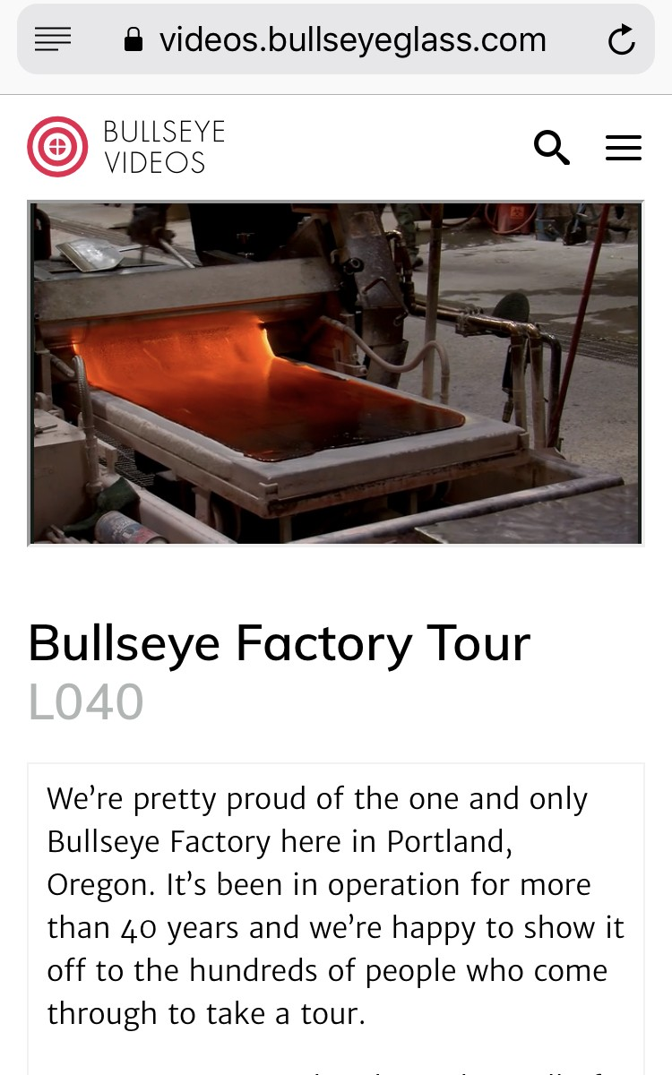 Bullseye Factory tour