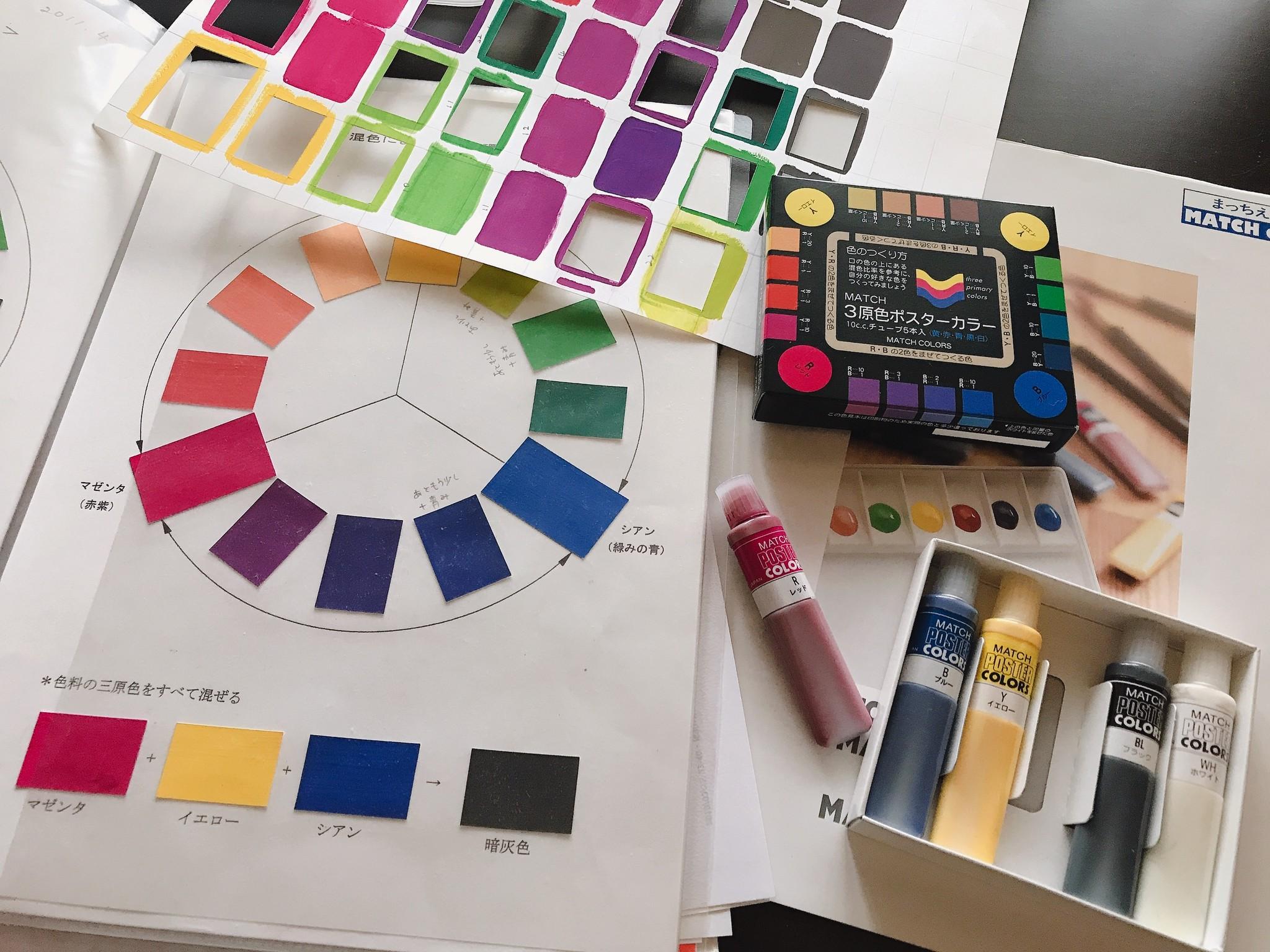 色彩の実習 絵の具混色編