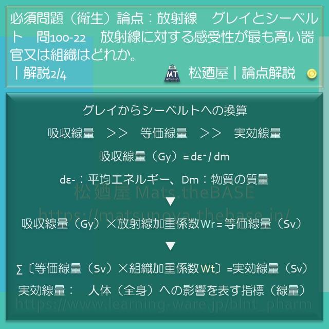 松廼屋|論点解説 薬剤師国家試験対策ノート問100-22【衛生】論点 ...