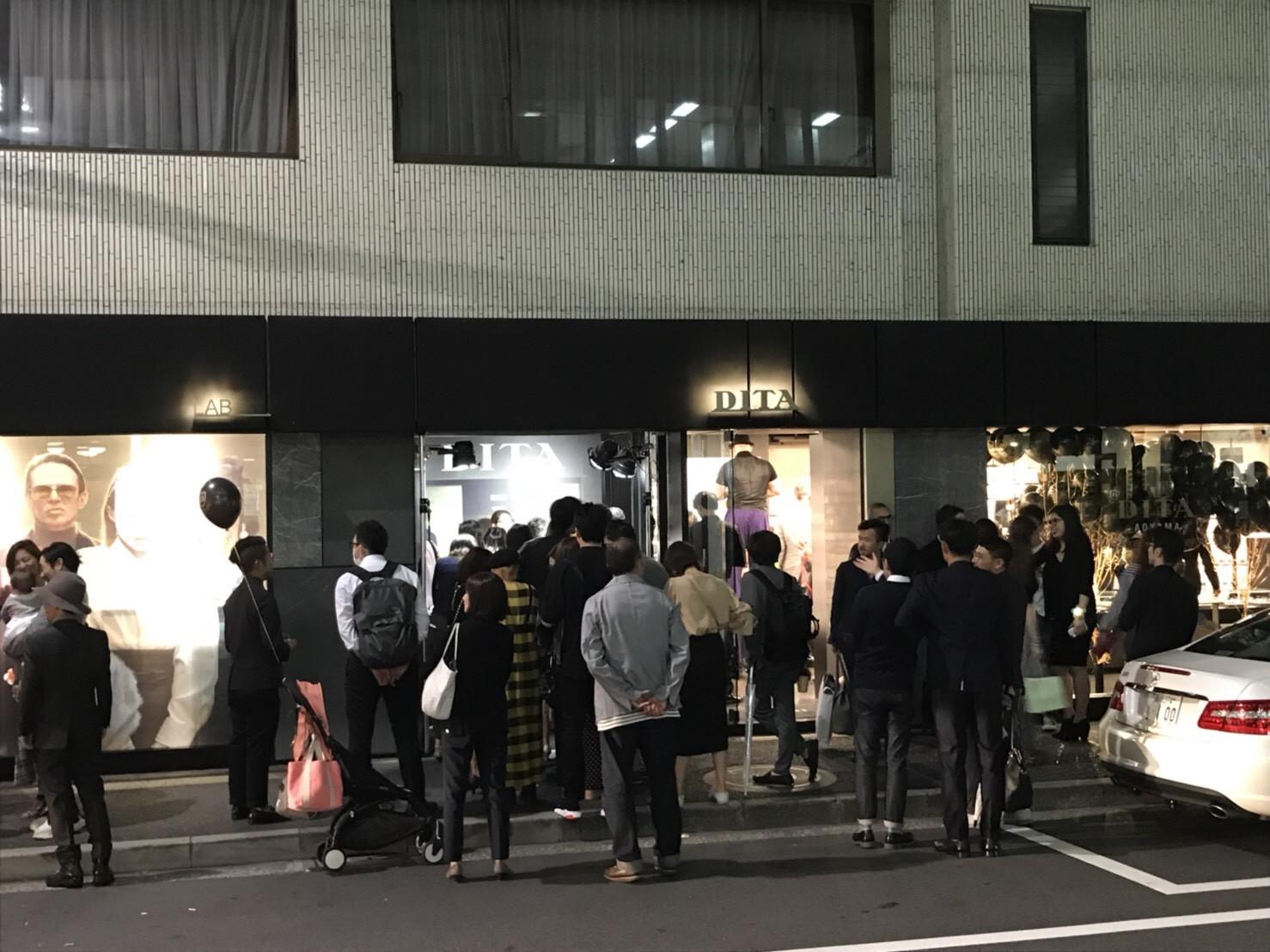 【DITA南青山店一周年記念イベントでCOCOVANILLAICECREAMを提供させて頂きました】
