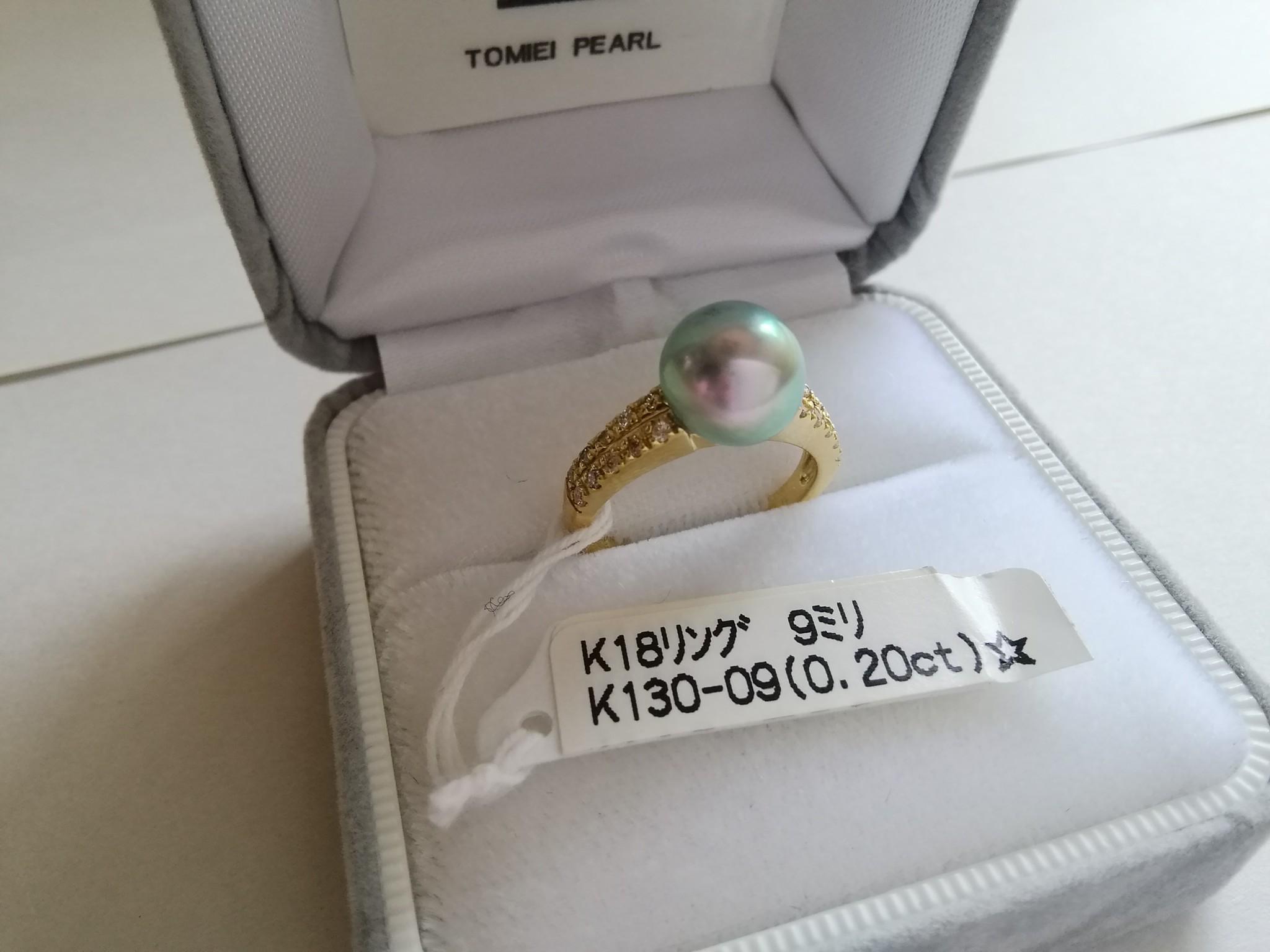 サイレントブルーK18ダイヤモンドリング