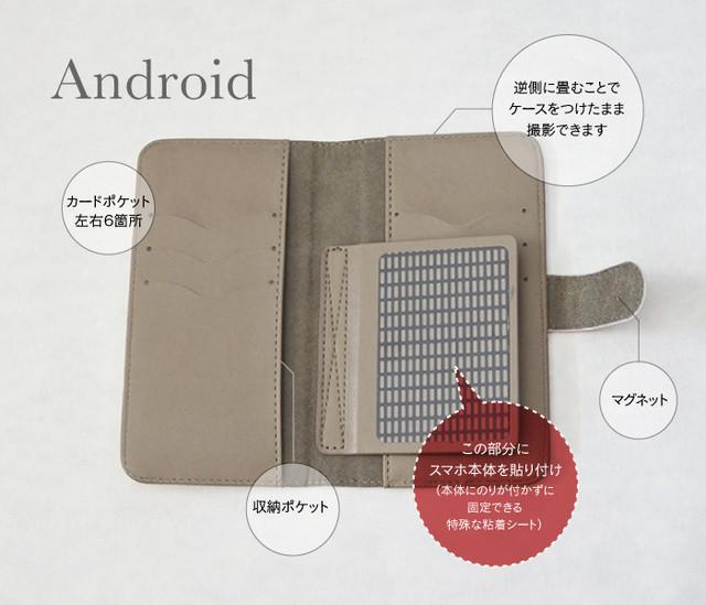 【Android用】手帳型スマホケース説明